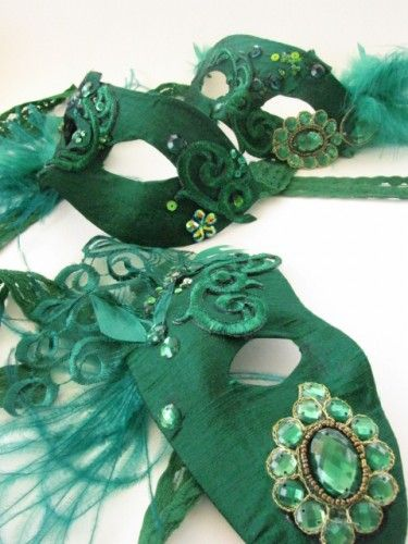 Emerald jewel Masks created by  www.carrieb.org Photograph by Abigail K Photography