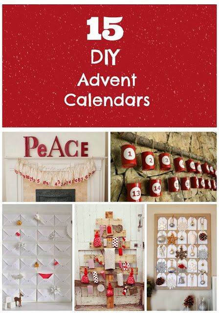 Love Calendar Ideas : Great diy advent calendars i love the tin can one so