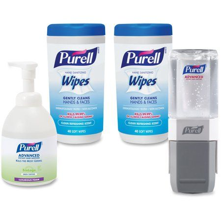 50 X Purell Wipes Anti Bacterial Hand Sanitizing Disinfectant