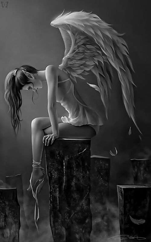 whitesoulblackheart:  Angel of Sorrow / Lady Mamaru  (Please leave credit … Ƹ̴Ӂ̴Ʒ)