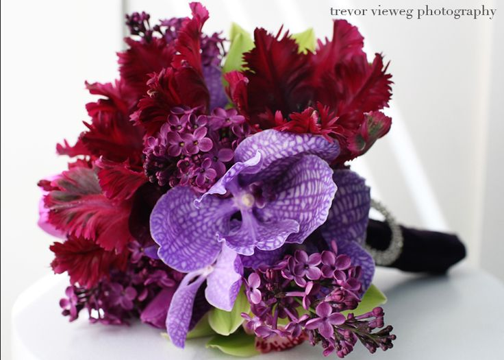 Red And Purple Wedding Flowers Car Tuning