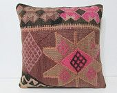 20x20 nomad kilim pillow unusual decor kilim ottoman pillow rug urban pillow case country decor retro pillow case knitted pillow cover 26230