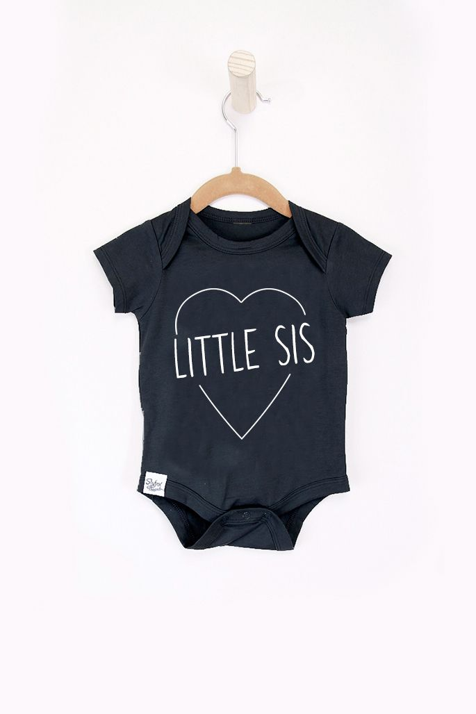 Little Sis Black Onesie - Slyfox Threads