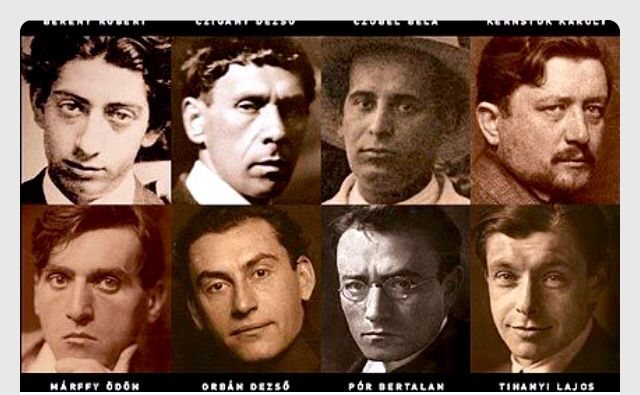 The Eight (painters) was an avant-garde art movement  Post- Impressionism of Hungarian painters active mostly in Budapest from 1909 to 1918.  Robert Bereny, Czigany Dezsö , Karoly Kernstok, Ödön Marffy, Orban Dezsö, Pór Bertalan, Tihanyi Lajos
