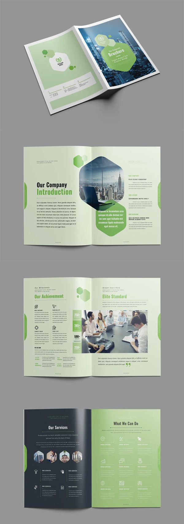 Clean and Creative Brochure Design INDD - 28 custom pages