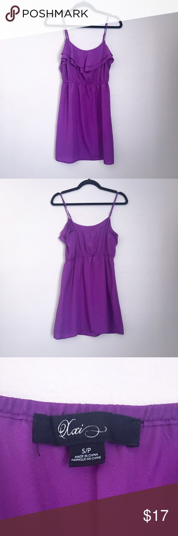 Pretty Purple Sundress Forever 21 XXI - Purple Sundress - Great dress for casual summer days or dress it up with a pair of heels for a night out on the town. Elasticized waistband for comfort and pretty layered neckline.  Love this color paired with a denim jacket!! Forever 21 Dresses