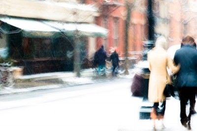 Snow, NYC by Carine Magescas