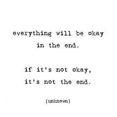 men zegt altijd: alles komt goed