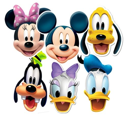 Papierowe maski na urodziny dla dziecka lub bal przebierańców Myszka Miki i przyjaciele z Klubu.