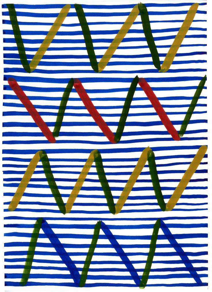 """""""Sähkö"""", original artwork by Erja Hirvi for Samuji  Men SS15"""