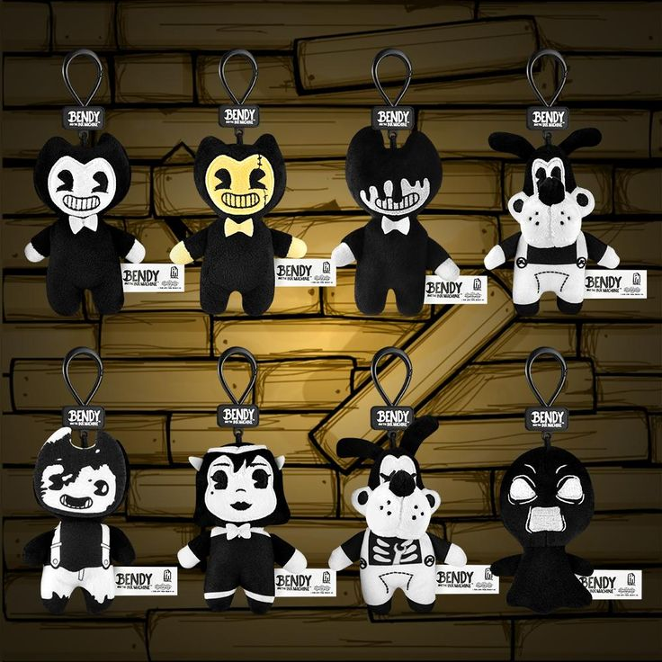 BENDY AND THE INK MACHINE BACKPACK COLLECTOR CLIP SERIES 1 INK FACE BENDY
