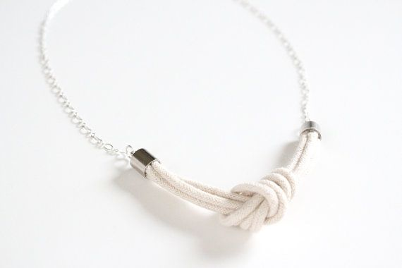 rope knot necklace: Accessories Ideas, Ropes Bracelets, Crafts Refashion, Ropes Necklaces, Knot Necklaces, Bridesmaid, Handmade, Ropes Jewelry, Ropes Knot