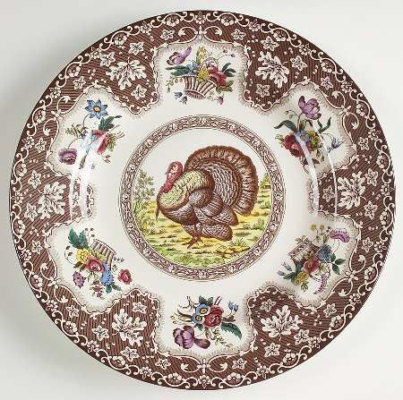 spode thanksgiving brown multicolor at replacements ltd - Thanksgiving China Patterns