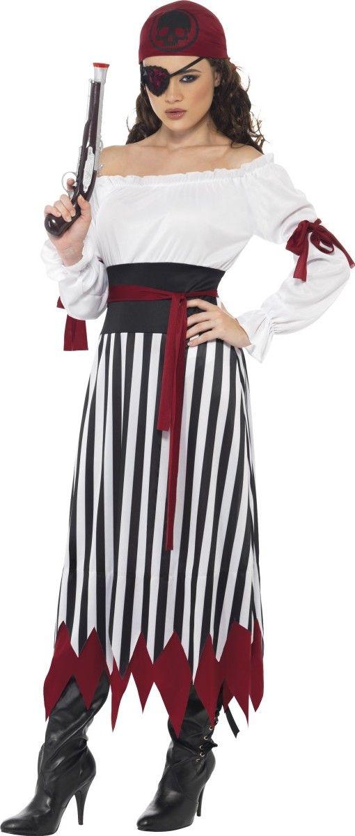 Disfraz de pirata rayas mujer Disponible en: http://www.vegaoo.es/p-224850-disfraz-de-pirata-rayas-mujer.html?type=product