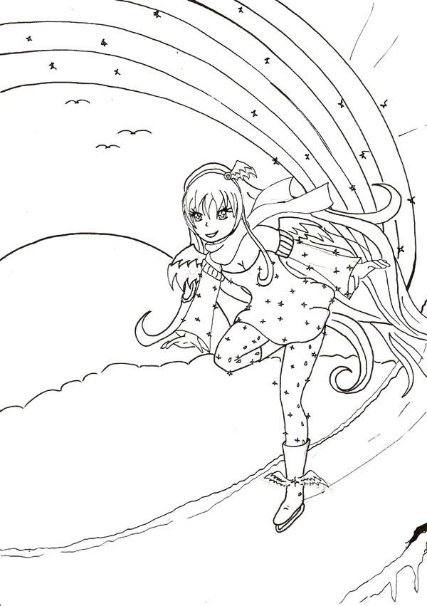 children ice skating coloring pages - photo#25