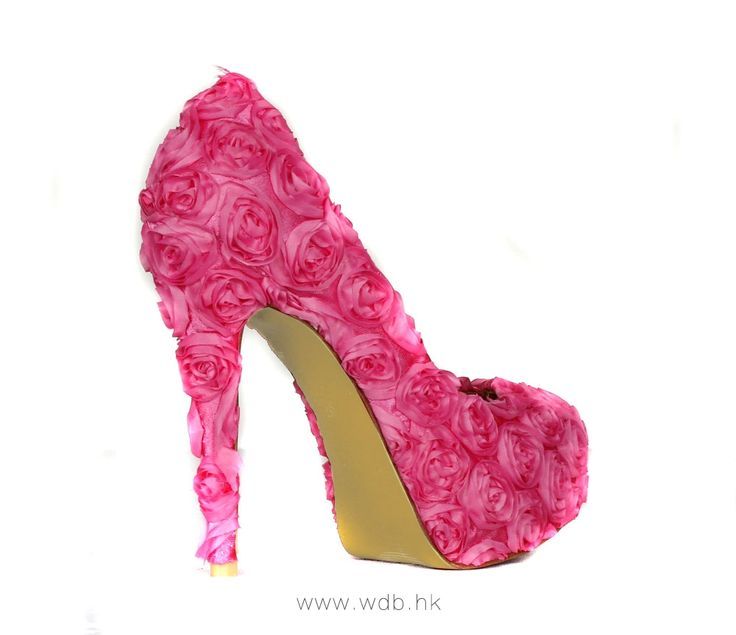 """""""5.5 inch Red Hand Made Flowers Fabric shoes $44"""""""