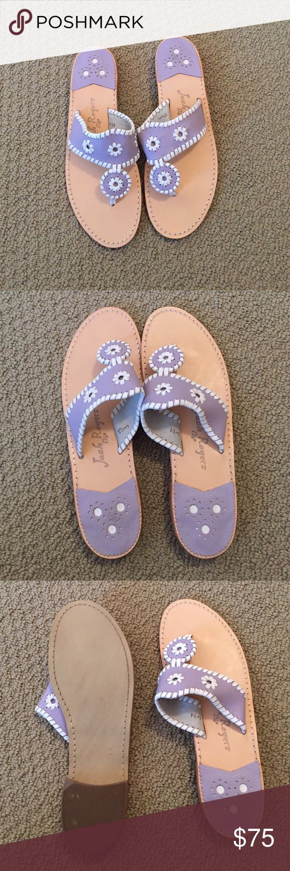 Jack Rogers Sandals Lavender and white colored size 10m sandals Jack Rogers Shoes Sandals