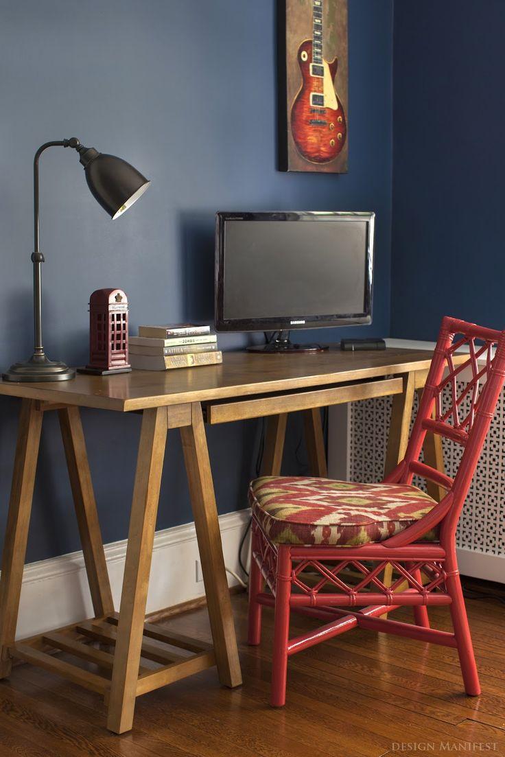 """Nice boy's room or playroom color - Benjamin Moore's """"Van Deusen Blue"""" via Design Manifest."""
