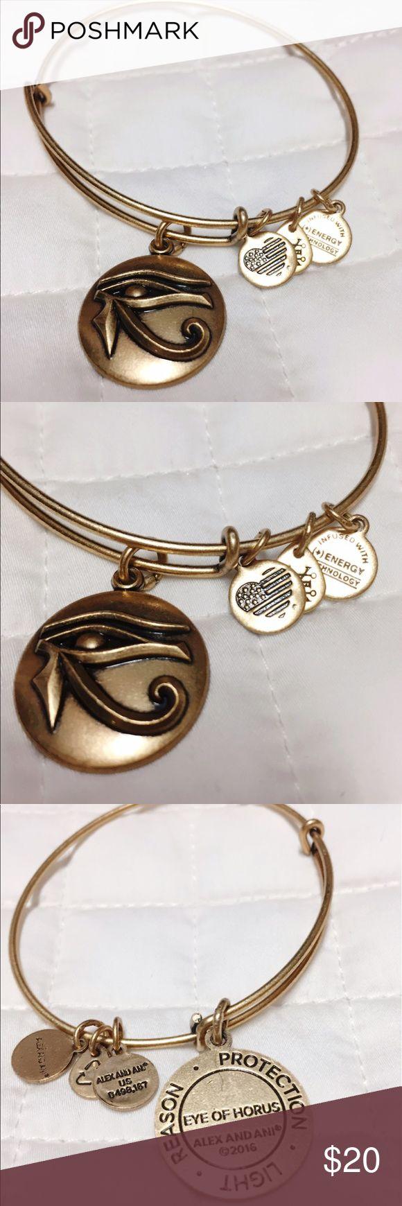 Alex & Ani Eye of Horus Bangle Rafaelian gold finish. In perfect condition, NWOT Alex & Ani Jewelry Bracelets