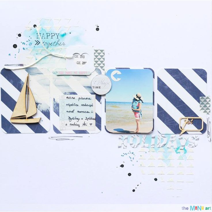 #Scrapbooking #holiday #LO for #theMiNiart by #humahuppa