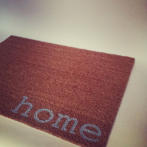 Lt Blue Home Door Mat  Never let your doorstep go unnoticed again. This classic door mat will get all kinds of reactions. The home doormat a