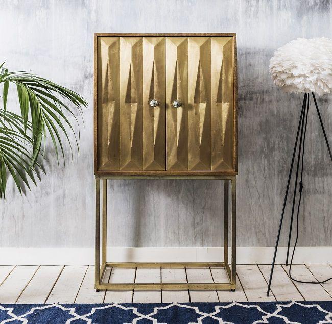 Brass Dining Room Furniture Art Deco Drinks Cabinet