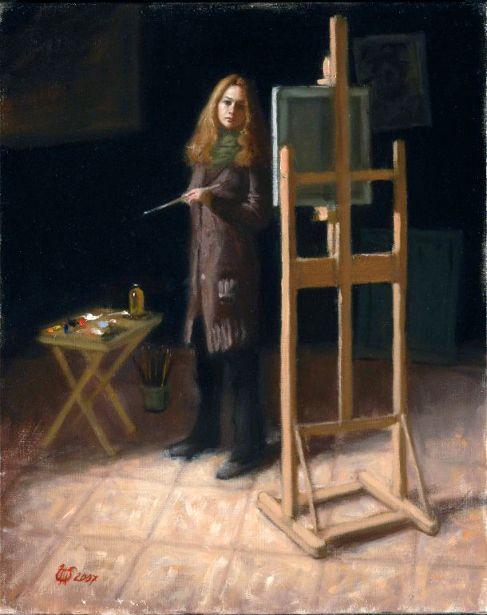 Self Portrait In Studio, 2007