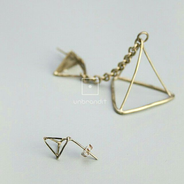 #earrings #jewlerydesign #handmade  #triangle#nickelsilver #greekdesigner #geometric…""