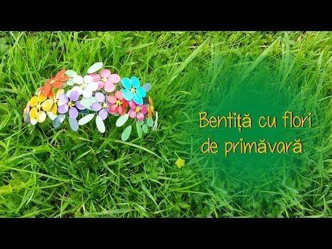 Bentita cu flori din oja ( Tutorial RO ) - YouTube
