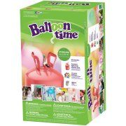 "Balloon Time 9.5"" Helium Balloon Tank Kit with 30 Balloons"