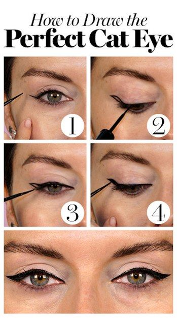 4 steps to getting the perfect cat eye