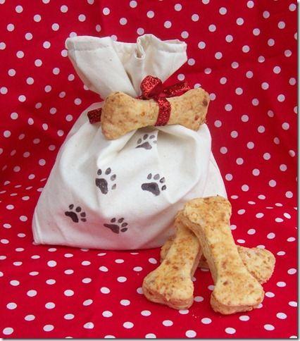 Wrapping Dog treat Idea