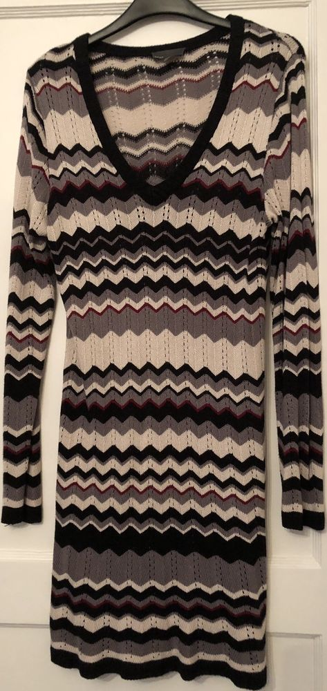 bf5eaec0d68934 Mexx Chevron Sweater Tunic Size M (fits UK 10 12)  fashion  clothing  shoes   accessories  womensclothing  dresses (ebay link)
