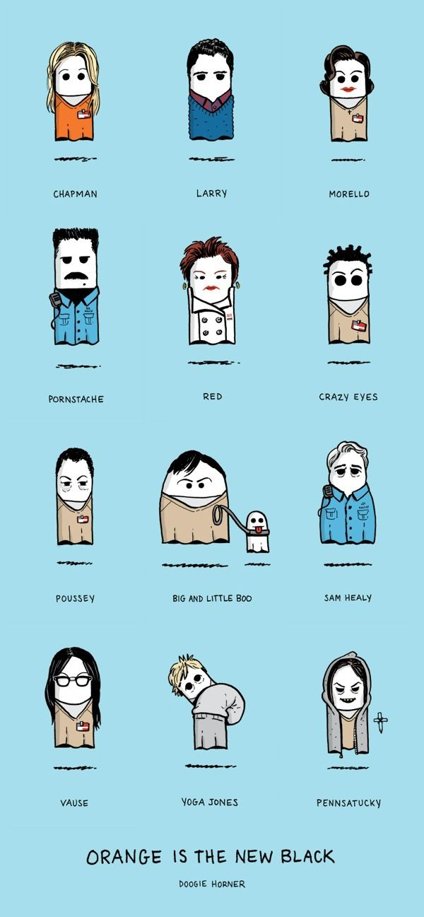 Characters From 'Orange Is the New Black' Drawn as Ghosts