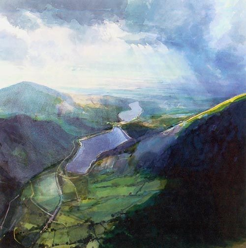 David Prentice - Above Llanberis Lake (watercolour) - isn't it lovely?
