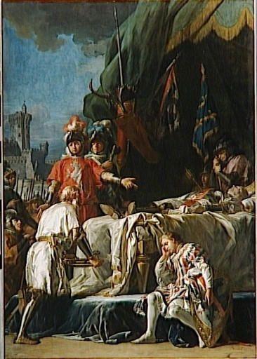 mort de du guesclin devant chateauneuf de juillet 1380 n g brenet tableaux. Black Bedroom Furniture Sets. Home Design Ideas