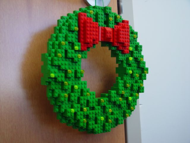 """""""Lego Wreath"""" - This would be cute for the playroom or a kid's room"""