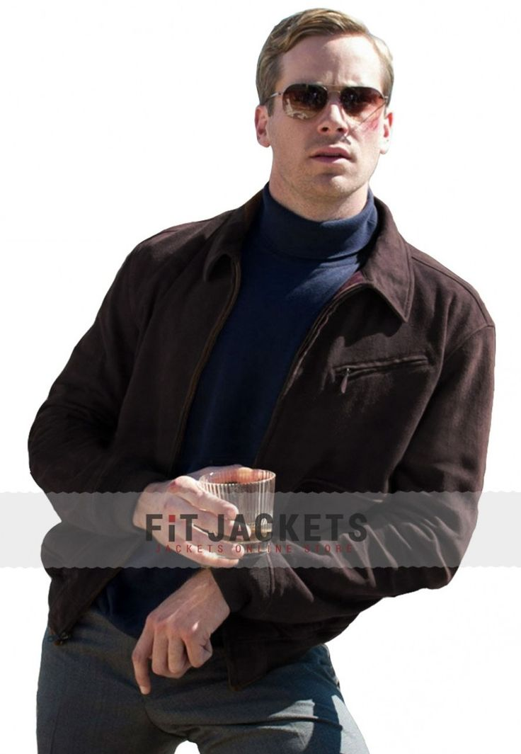Exemplify your modish outlook to carry this fashionable piece of Armie Hammer Brown Jacket from our online store fitjackets with free shipping worldwide with free gift!!  #Themenfromuncle #Illya #ArmieHammer #Celebrity #Cosplay #geek #cheezburger #geektyrant #geekcheezburger #Fashion #Shopping #Stylish #MensWear #MensOutfit #MensFashion #MensJackets