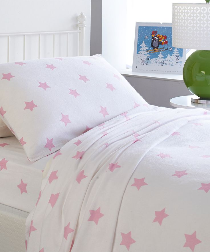 Another great find on #zulily! Dreamy Star Pink Playful Collection Flannel Sheet Set by Heritage Home Fashions #zulilyfinds