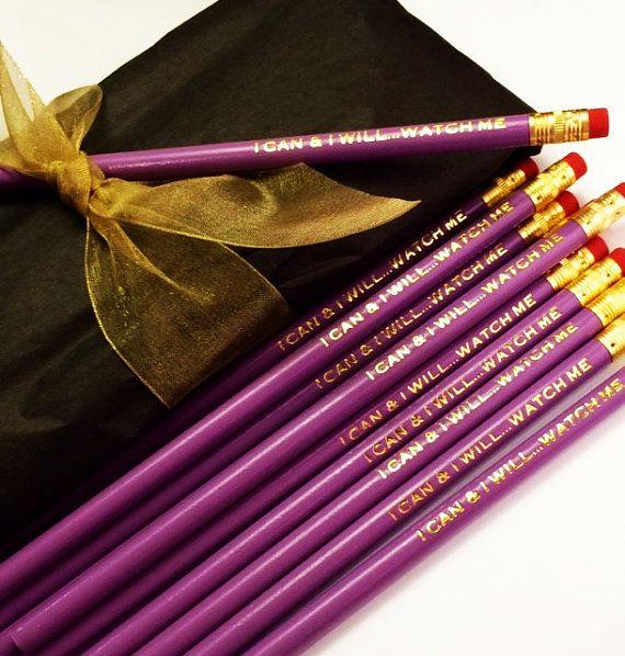 Custom Pencils Set of 12 Custom Pencils by RoostPaperie on Etsy