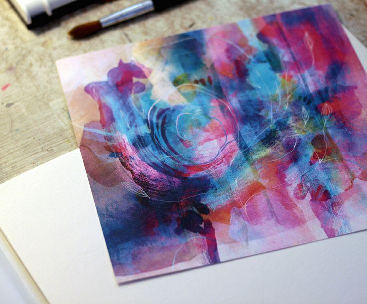 A farba sa rozpila II. Vo vnútri steká po tvári drobná a modrá tak ako nebo je . blízko v nás Lu. maľby,spojené v PC do textúr, tlač na semigloss papier 250g formát 20x20cm.