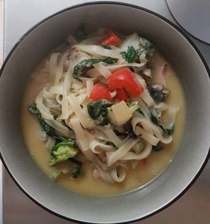 Baby bok choy and mushroom soup #EasyVeganBreakfastsandLunch