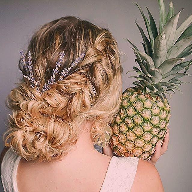 Hochsteckfrisur Locken Fruit Pineapple