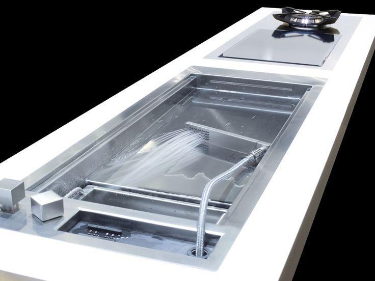 built-in sink with garbage disposal / Évier encastrable avec broyeur de déchets ACQUAPIANO by Glem Gas