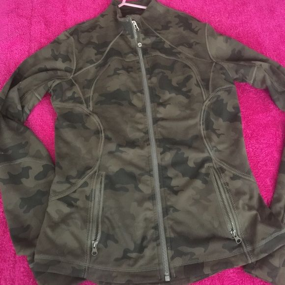 Hard to find!!Hot item!!! Camo define original green size 8 great condition lululemon athletica Jackets & Coats