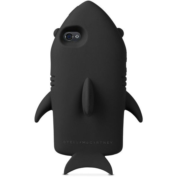 Stella Mccartney Black Shark Iphone 6 Cover (99 CAD) ❤ liked on Polyvore featuring accessories, tech accessories, phone cases, tech, black and stella mccartney