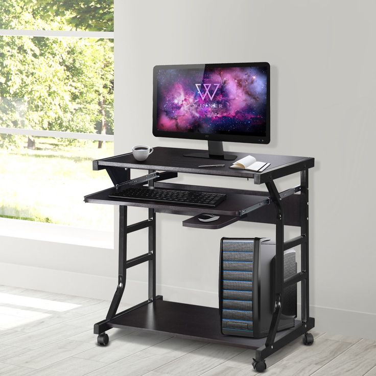 Home Office Workstation Rolling Computer Desk In 2020