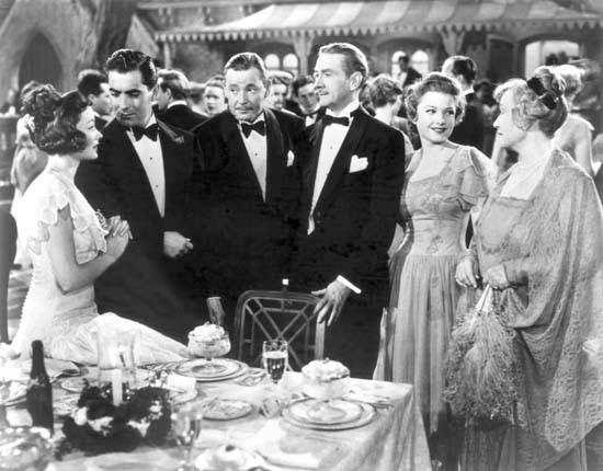 Gene Tierney, Tyrone Power, Herbert Marshall, Clifton Webb, Anne Baxter, and Lucile Watson in The Razor's Edge (1946)
