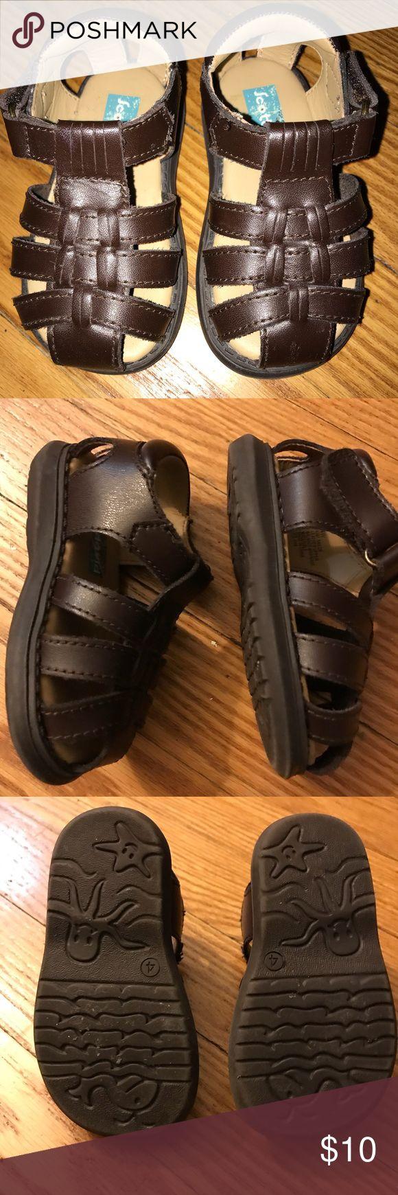 Baby real leather sandals Real leather Scott Scott Davis brown infant sandals. Size 4 Scott David Shoes Sandals & Flip Flops