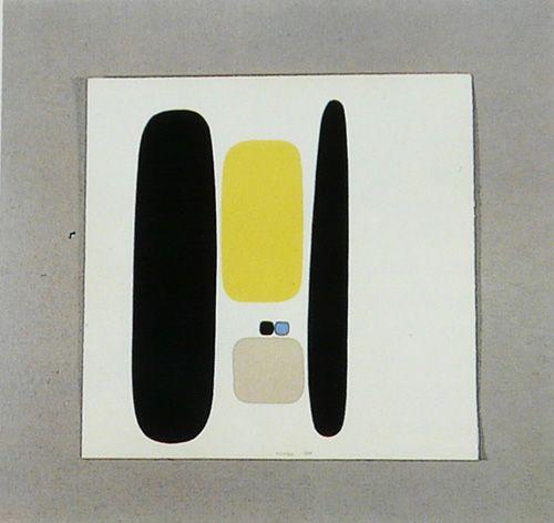 Bruno Munari | watercolour on carboard // détrempe sur carton, 1950